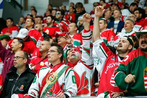 One of Hungarian team fans celebrates the goal. Photo: Andrey Basevich
